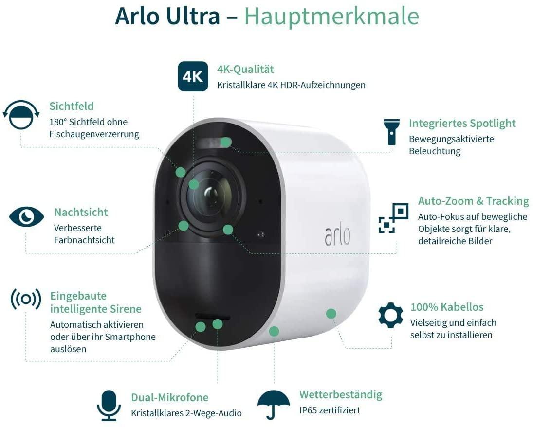 WLAN Überwachungskamera Überwachungskamera WLAN WLAN Überwachungskameras Arlo Ultra